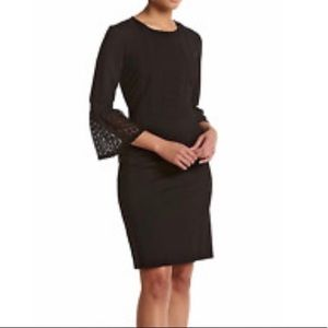 Nanette Lepore Faux Suede and Lace Shift Dress